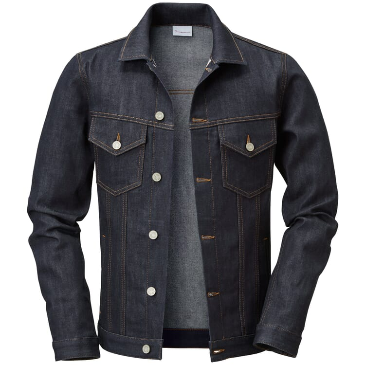 Knowledge Cotton Apparel Herren-Jeansjacke Denim Blue