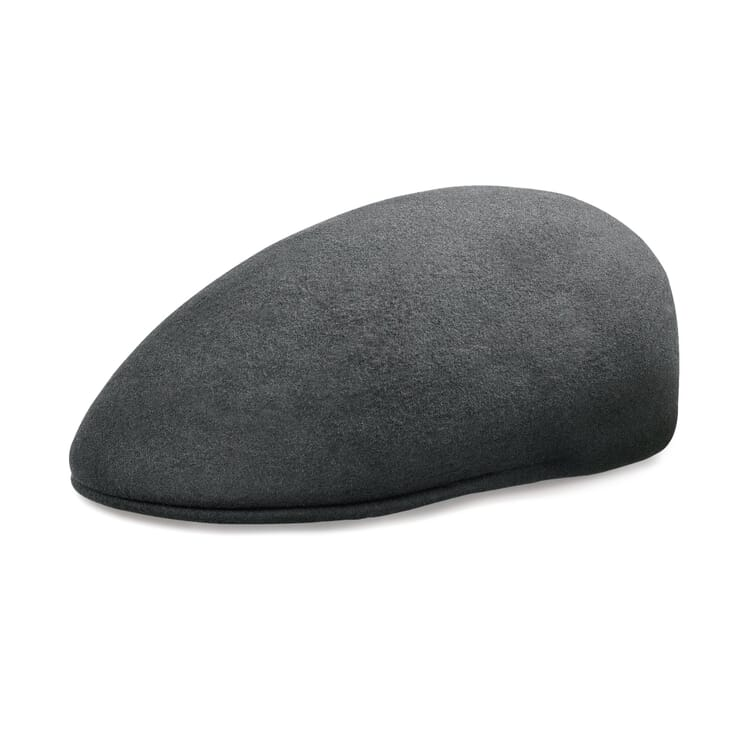 Ascot Cap Made of New Wool Feltby Mayser, Dark Grey