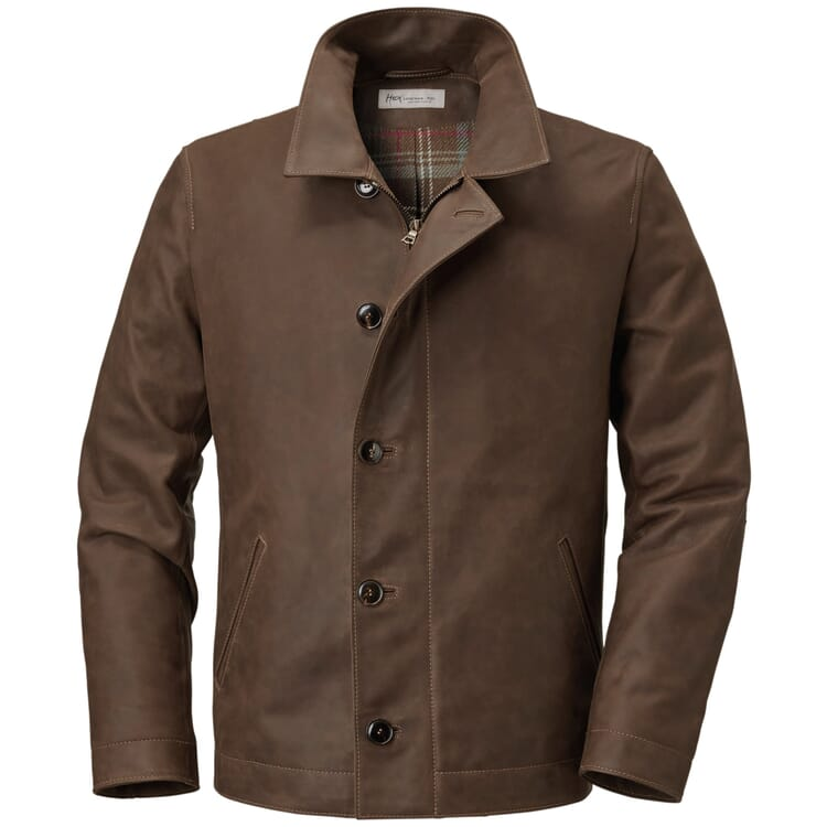Men's Leather Jacket Made of Cowhide by Hack