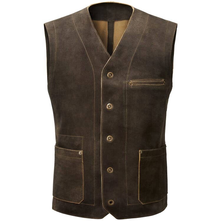 Men's Vest Made of He-Goat's Suede by Hack