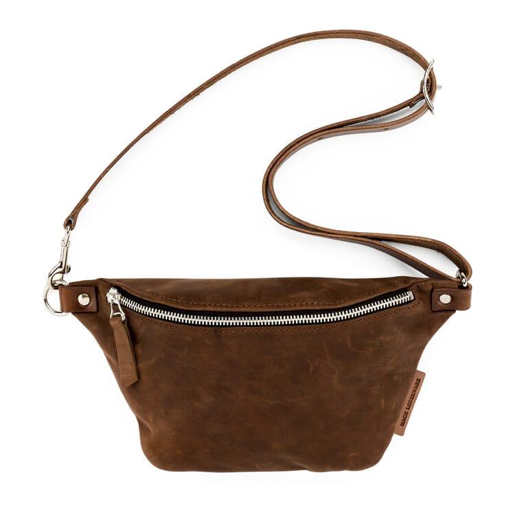 Belt Bag made of Cowhide by Hack, Brown