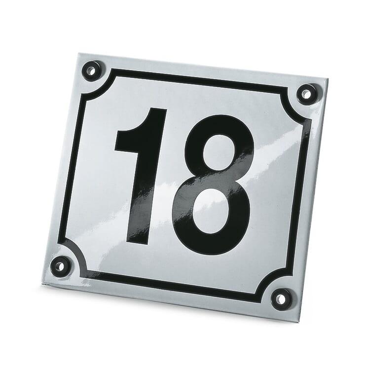 Hausnummer Emaille
