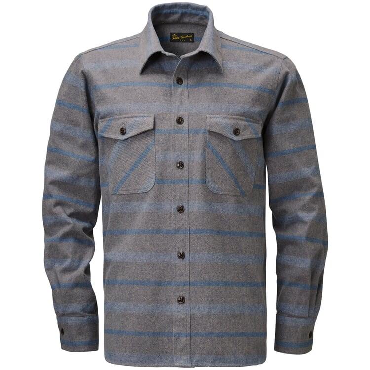 Pike Brothers Overshirt Flanell Grau-Blau
