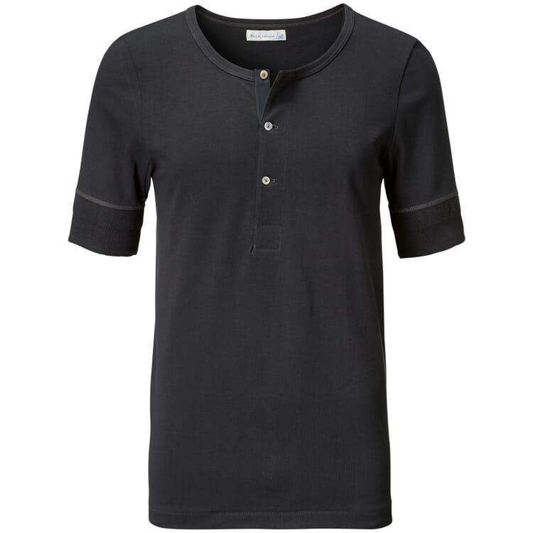 Men's Half-Sleeved T-Shirt Made of Jersey by Merz b. Schwanen, Anthracite
