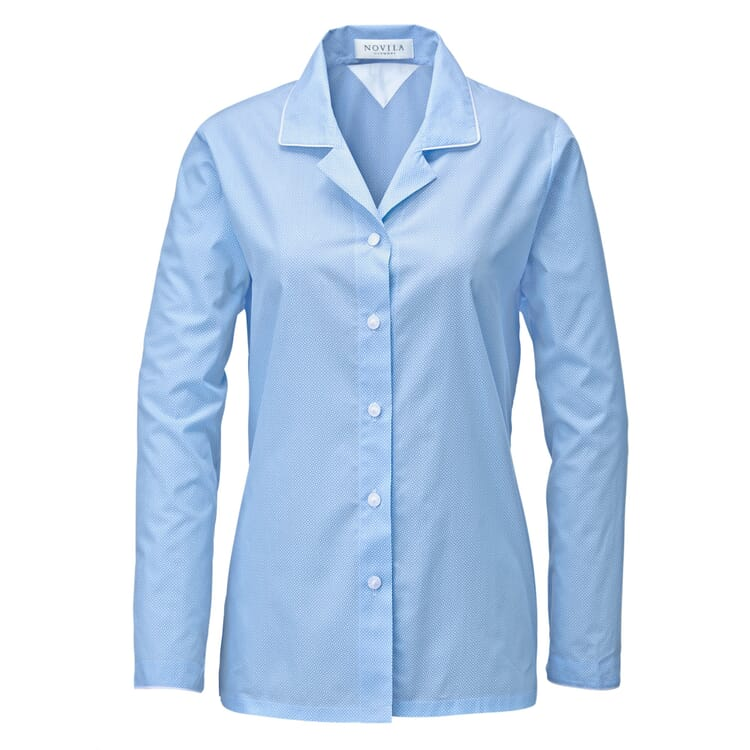 Novila Damenpyjama gemustert, Bleu
