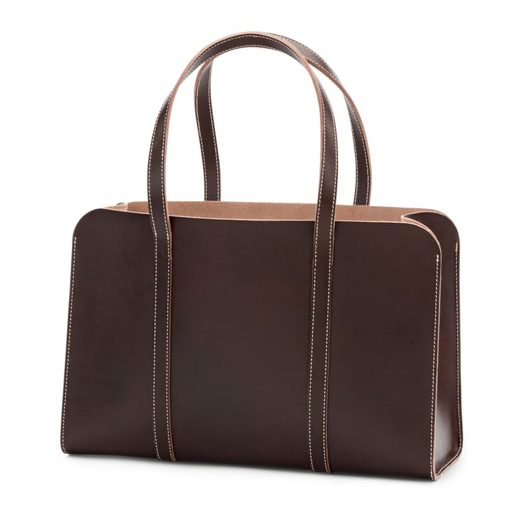 Shopper Made of Cowhide, Brown