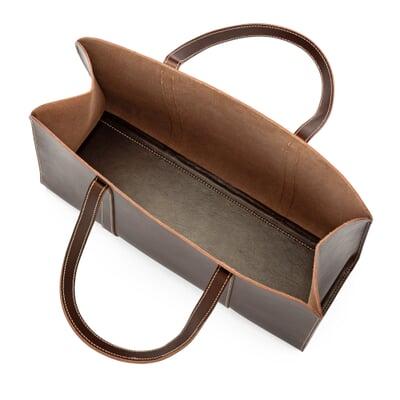 mit Magnetverschlu/ß und Innentasche Sporttasche Wunschleder Shopper Tasche aus Bio Braun