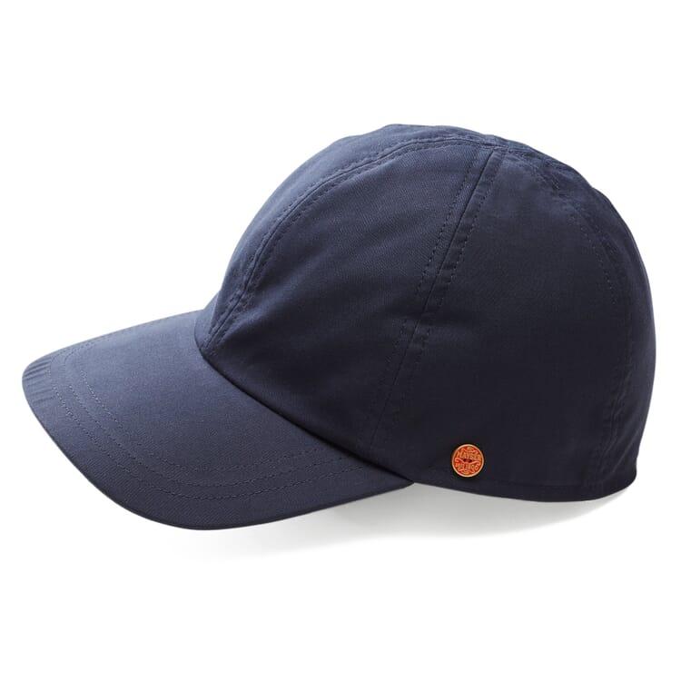 Men's Peaked Cap Made of EtaProof® by Mayser, Navy Blue