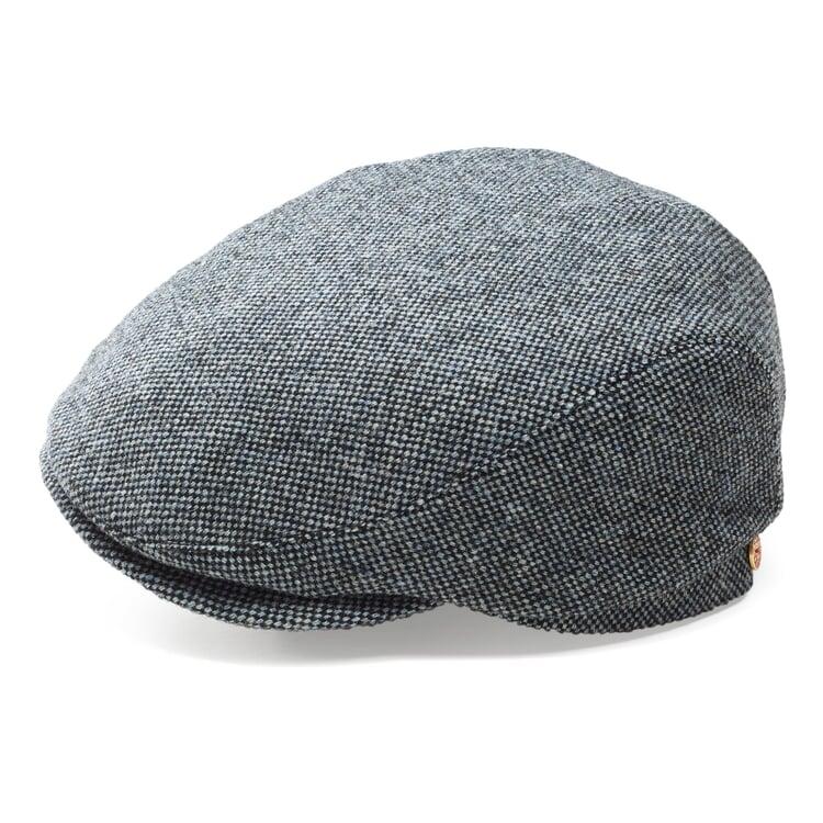 Mayser Herren Wollkappe Grau-Blau