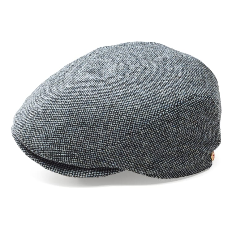 Men's Woollen Flat Cap by Mayser, Grey-Blue