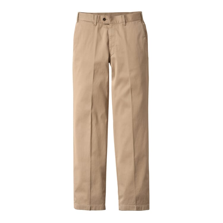Men's Chinos Made of Supima® by Hiltl, Beige