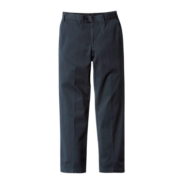 Men's Chinos Made of Supima® by Hiltl, Dark Blue