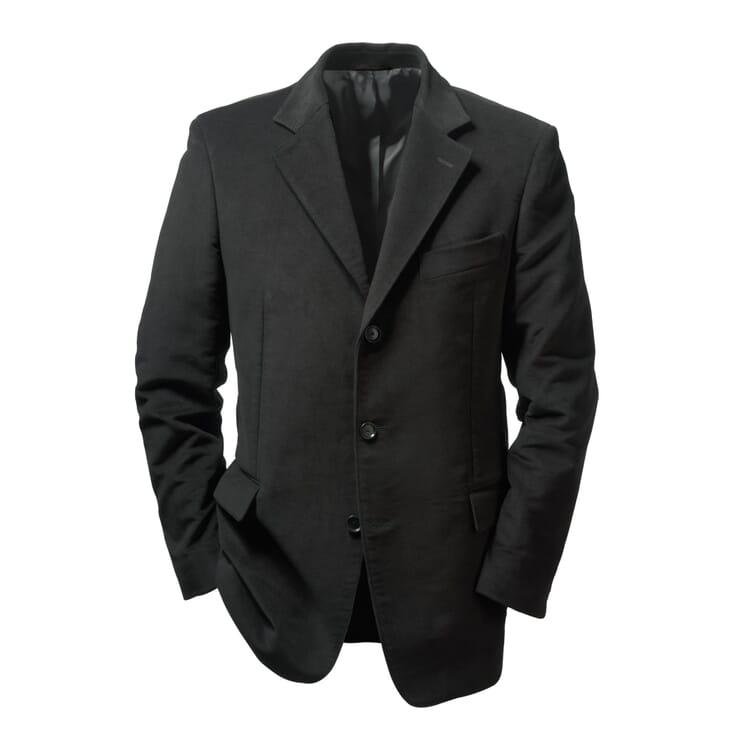 Men's Sport Coat Made of Moleskin by Regent, Black