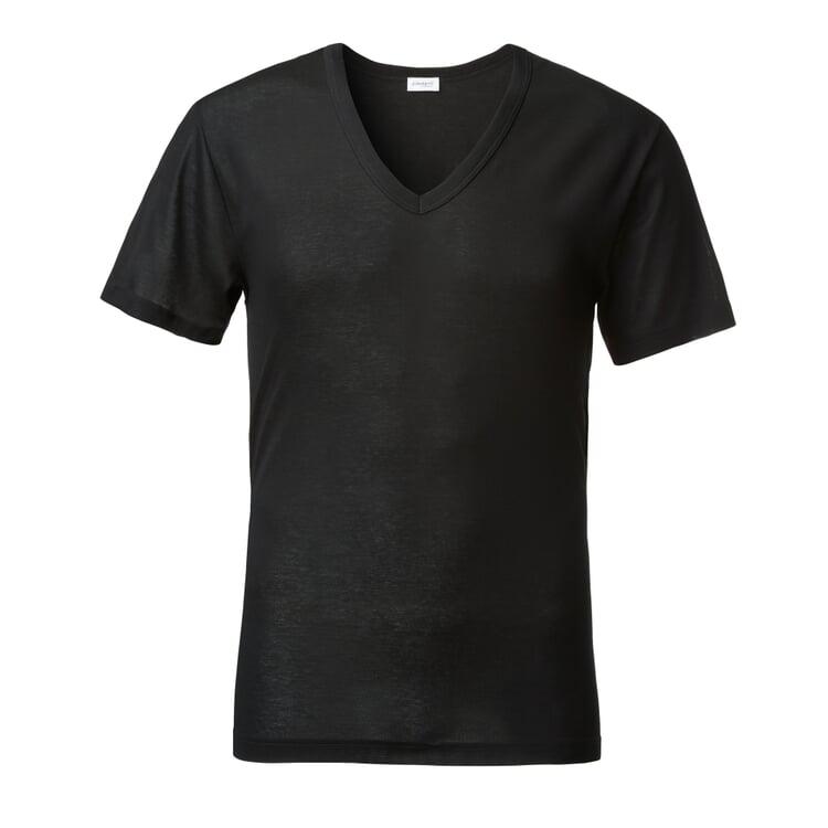 Zimmerli Herrenunterhemd V-Ausschnitt Schwarz