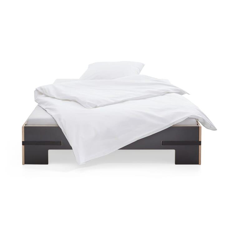 Bett Gurtbett schwarz