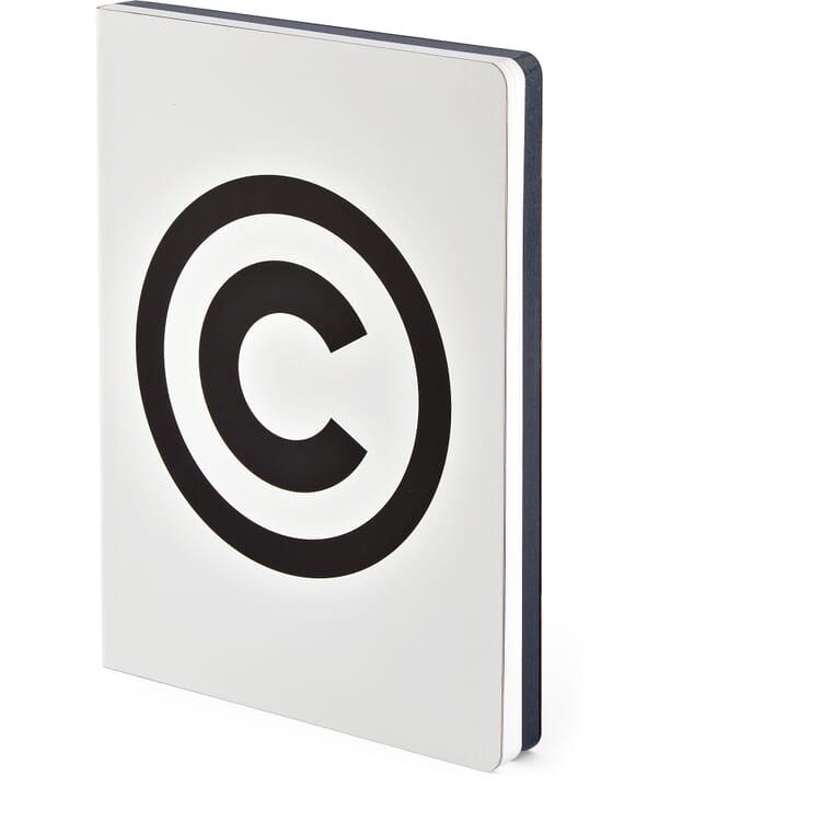 Notizbuch Copyright