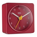 Analogue Alarm Clock by Braun Red and Red