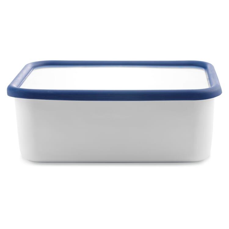 Vorratsbehälter Emaille Blauweiss