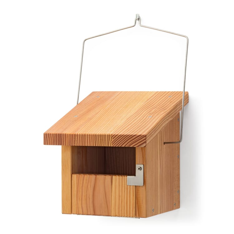 Nest Box for Cavity-Nesting Birds Made of Larch Wood