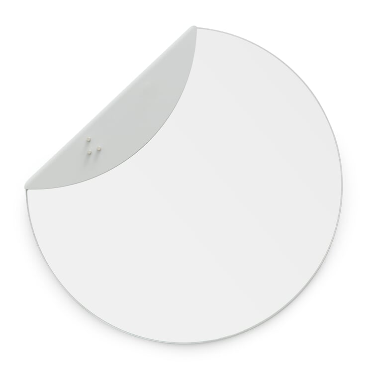 Spiegel Flap 400 mm Lichtgrau RAL 7035