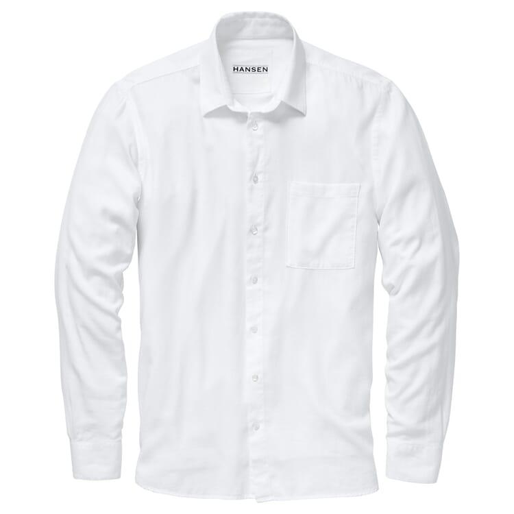 Herren-Baumwollhemd, Weiß