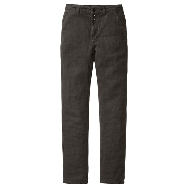 Men's Trousers Made of Linen, Graphite