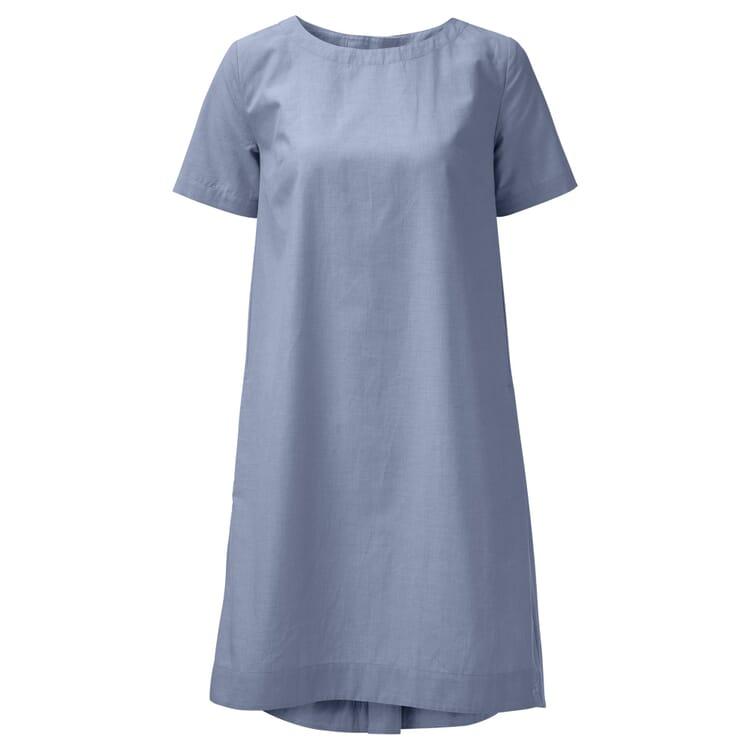 Damen-Chambray-Kleid, Hellblau