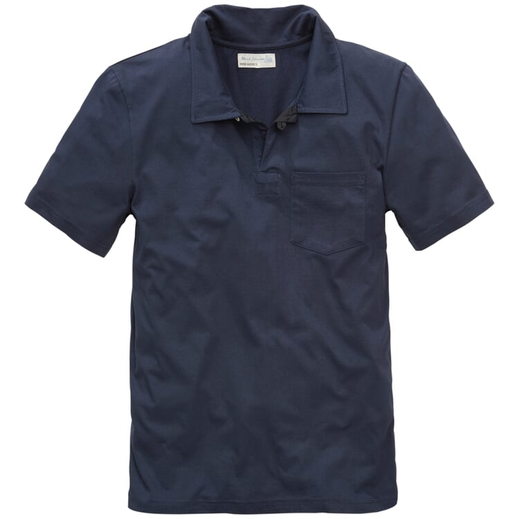 Herren-Poloshirt Dunkelblau
