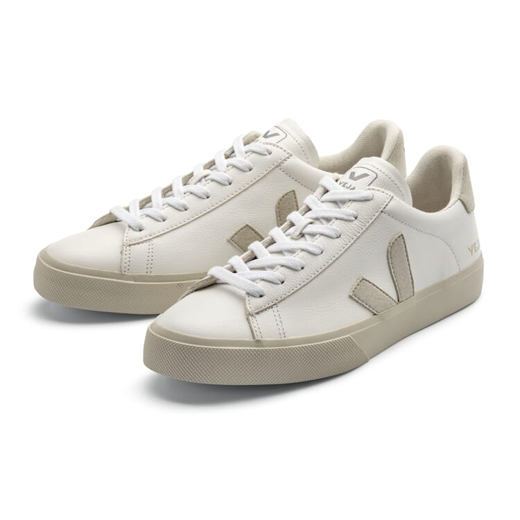 Unisex Leather Gym Shoes by Veja, White