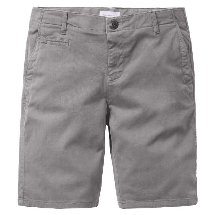 Herren-Chino-Shorts, Grau