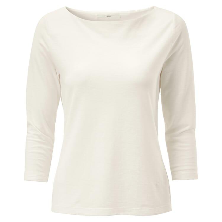 Damenshirt U-Boot-Ausschnitt, Creme