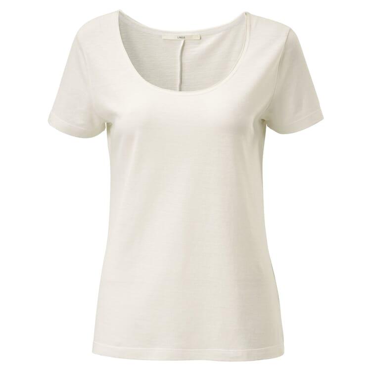 Damen-Rundhalsshirt, Creme