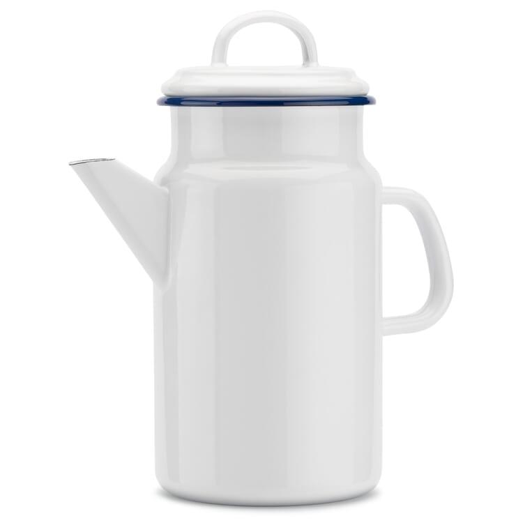 Tee- und Kaffeekanne Emaille