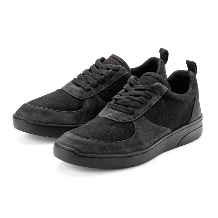 Men's Leather Sneakers, Anthracite