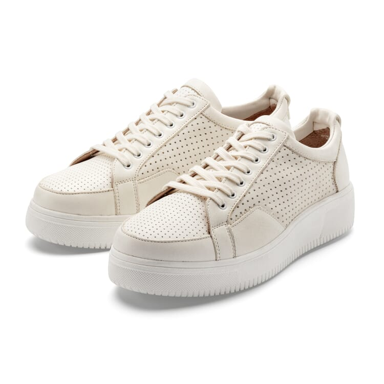 Women's Leather Sneakers, Nature
