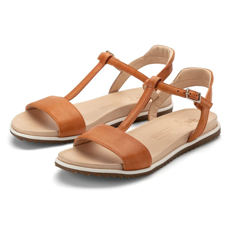 Women's Leather Thong sandals, Light Brown