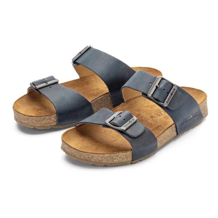 Unisex-Pantolette mit Fußbett Blau