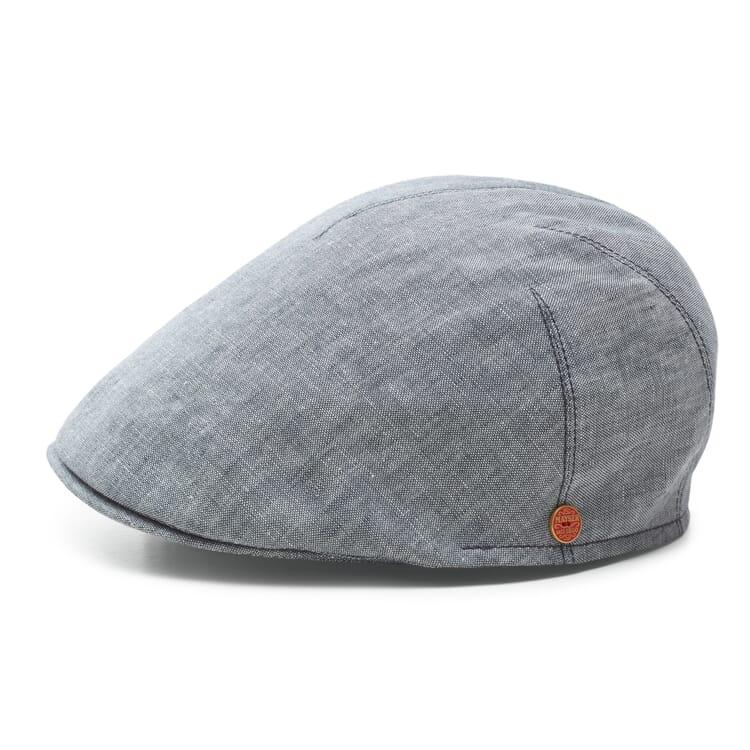 Men's Flat Cap Made of Linen, Grey