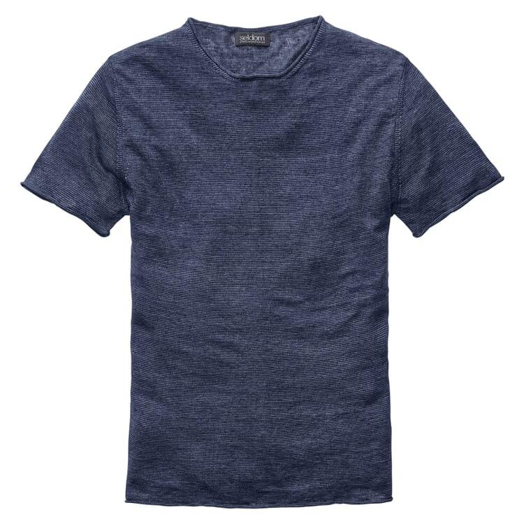 Herren-Leinenshirt, Blaumeliert