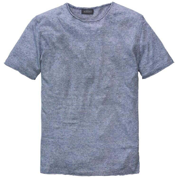 Herren-Leinenshirt, Graumeliert
