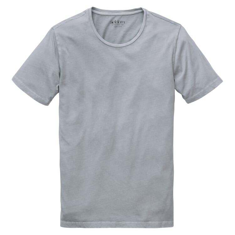 Herren-T-Shirt Crew Neck, Grau