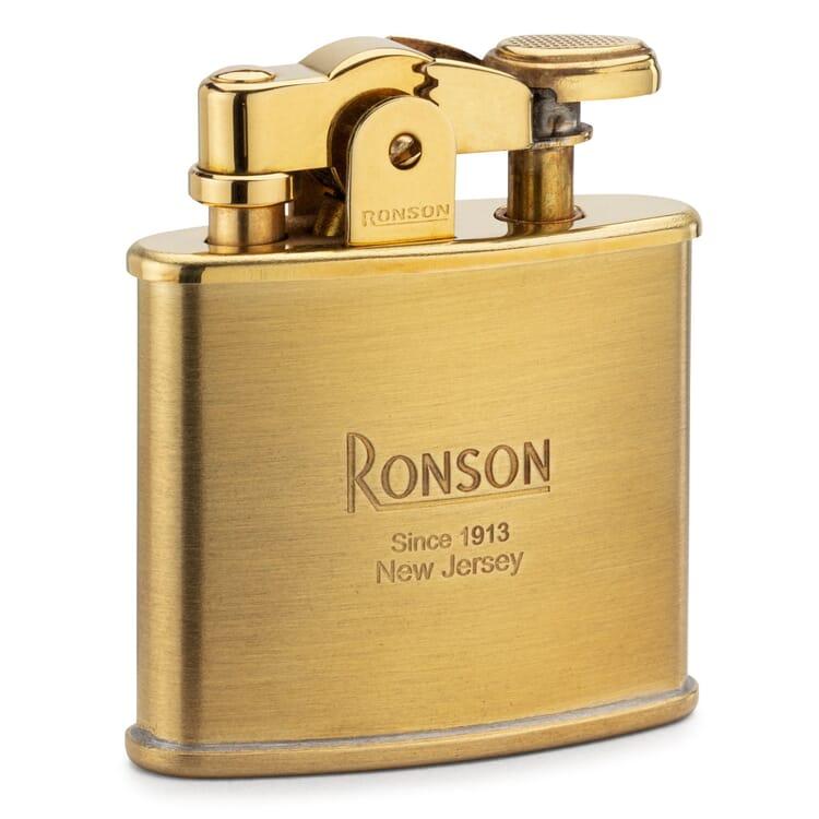 Ronson Benzinfeuerzeug Messing