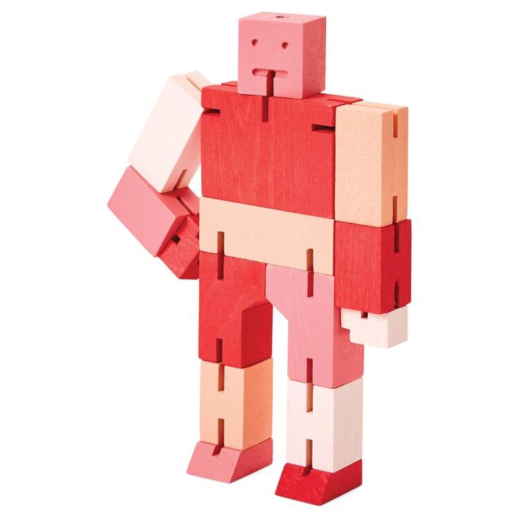 Holzfigur Cubebot, Rot