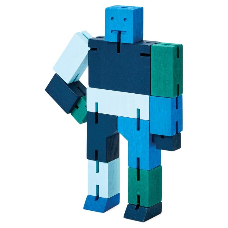 Wooden Figure Cubebot, Blue