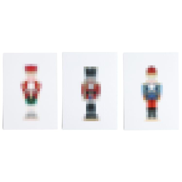 Grußkarten-Set Pixel