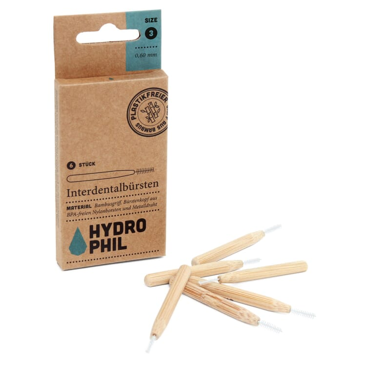 Interdental Brushes with Bamboo Handle, Size 3