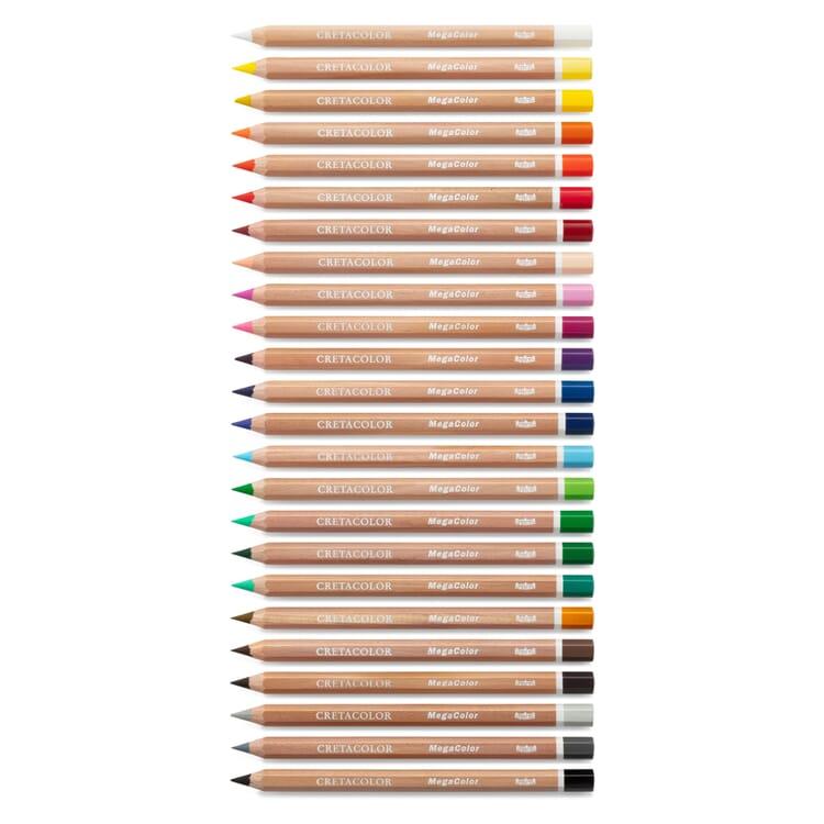 Cretacolor Dicke Farbstifte, 24 Stück