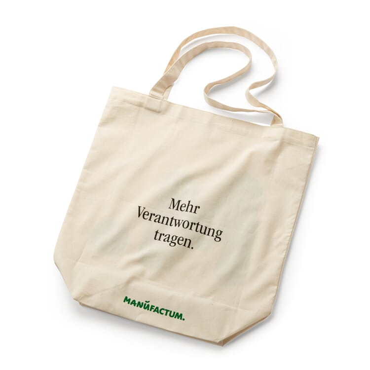 Cotton Bag with a Slogan by Manufactum, Bear More Responsibility