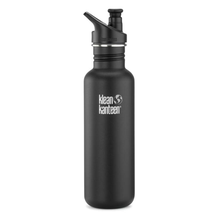 Sportflasche 800 ml Schwarz