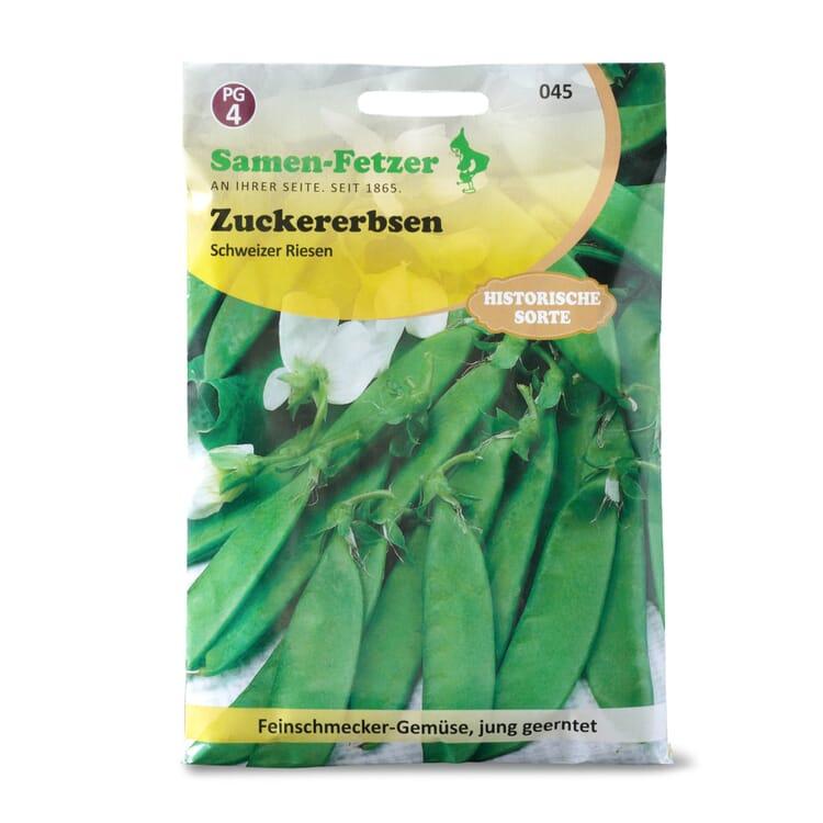 Gemüsesaatgut Zuckererbse Schweizer Riesen